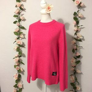 NWT Calvin Klein Cozy Hot Pink Sweater